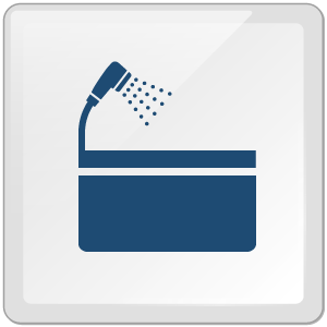 特徴6:シャワー・バス完備